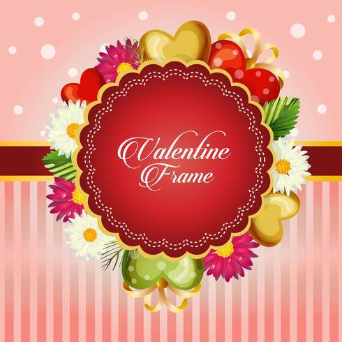 cartolina di San Valentino decorare con fiore margherita