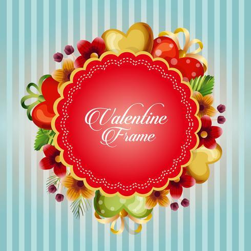 valentine card with flower love