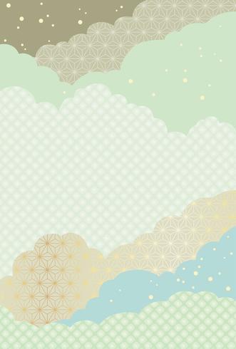 Japanisches abstraktes Muster, Vektorhintergrundillustration.