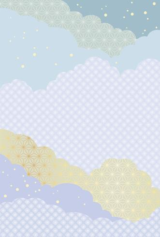 Japanese abstract pattern, vector background illustration.