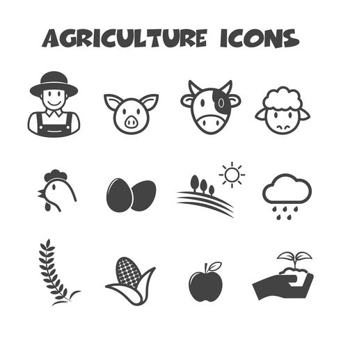 agriculture icons symbol