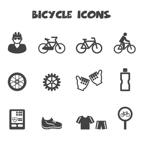 simbolo di icone della bicicletta vettore