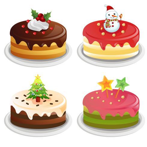 insieme di raccolta torta di Natale