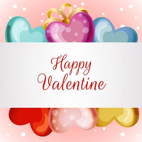 cartão de dia dos namorados com balão de amor vetor