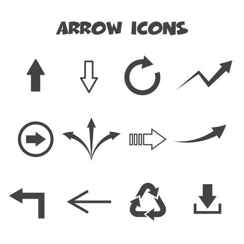 símbolo de ícones de seta vetor