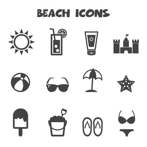 símbolo de los iconos de playa