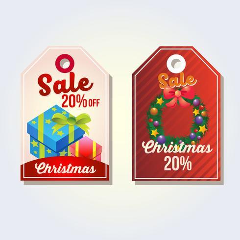 verzameling van kerst tags