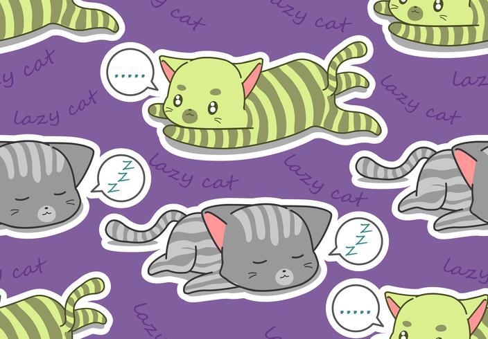 Nahtloses Muster mit 2 faulen Katzen.