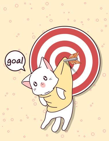 Gato kawaii y gol con flecha