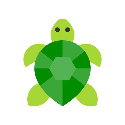 Vector de tortuga, icono de estilo plano relacionado tropical