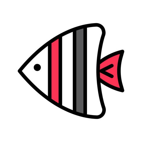 Sea fish vector, tropical related filled style icon vector