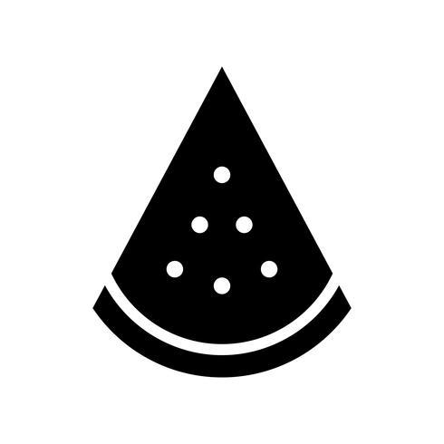 Watermeloen slice vector, tropische verwante effen stijl pictogram