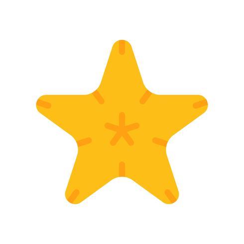 Vecteur d'étoile de mer, icône de style plat liée tropical
