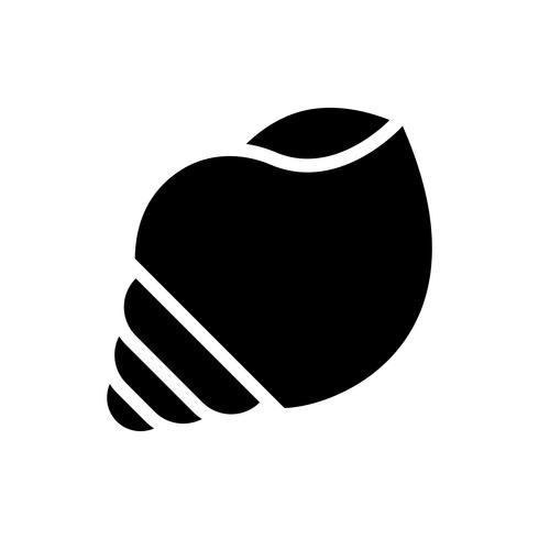 Seashell vector, tropical related solid style icon