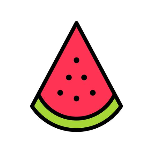 Watermelon slice vector, tropical related filled style icon