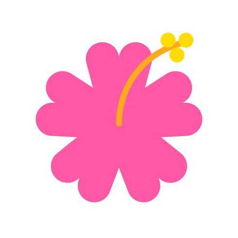 Vecteur d'hibiscus, icône de style plat liée tropical