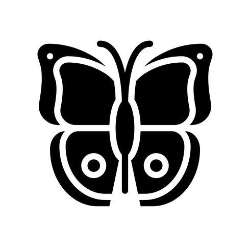 Vector de mariposa, icono de estilo sólido relacionado tropical