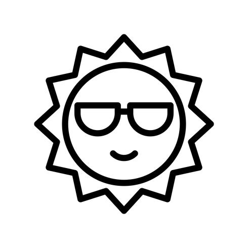 Sun vector, tropical related line style icon