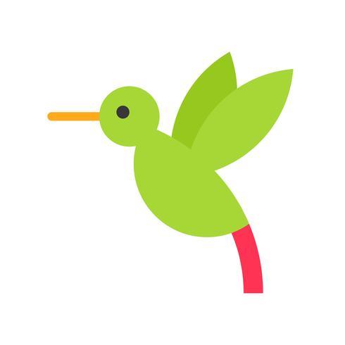 Vector de colibrí, icono de estilo plano relacionado tropical