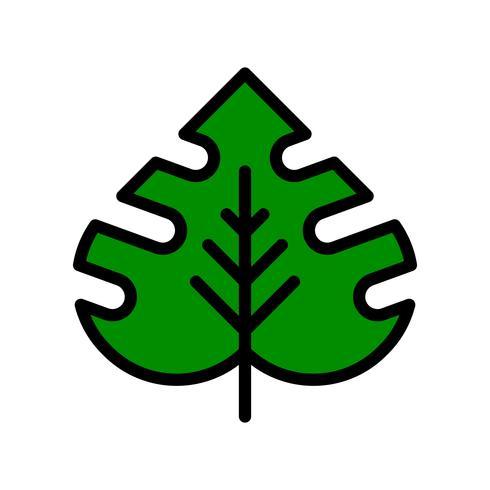 Vecteur de feuilles tropicales, icône de style rempli connexe tropical