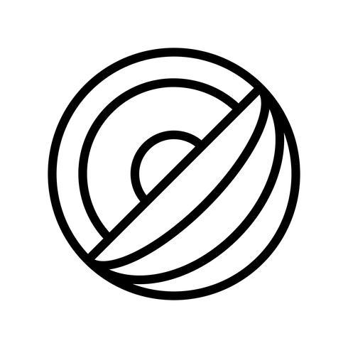 Vecteur de melon, icône de style de ligne liée tropical