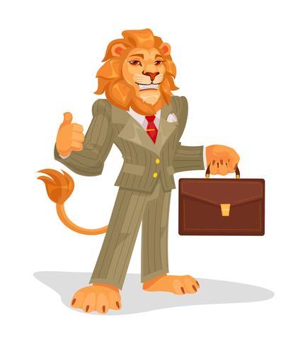 Vector illustration of business king