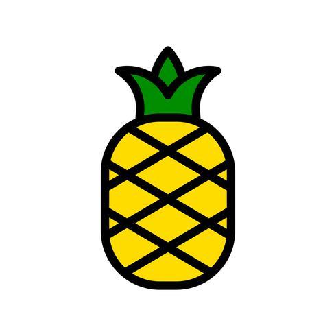 Vector de piña, icono de estilo relleno relacionado tropical