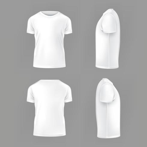 Vecteur défini modèle de T-shirts pour hommes