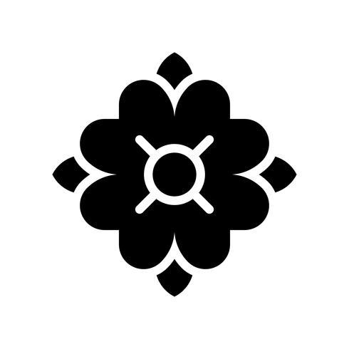 Vecteur de fleur tropicale, icône de style solide connexe tropical