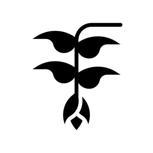 Vecteur de fleur Heliconia, icône de style solide connexe tropical