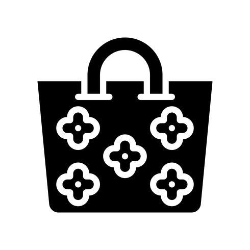 Vecteur de sac d'été, icône de style solide connexe tropical