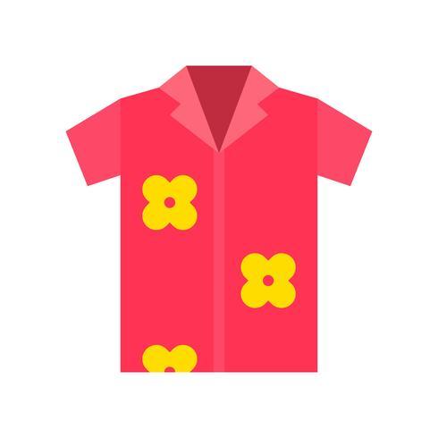 Vecteur de chemise d'été, icône de style plat connexe tropical