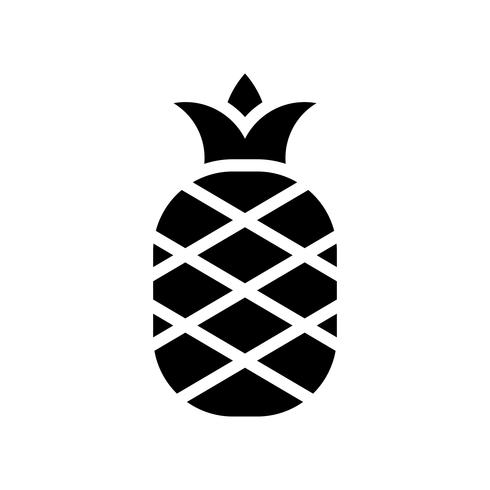 Vector de piña, icono de estilo sólido relacionado tropical