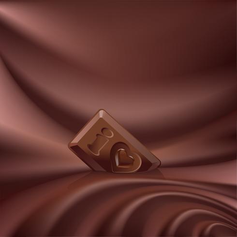 Cioccolato fuso di sfondo vettoriale choco ondulato