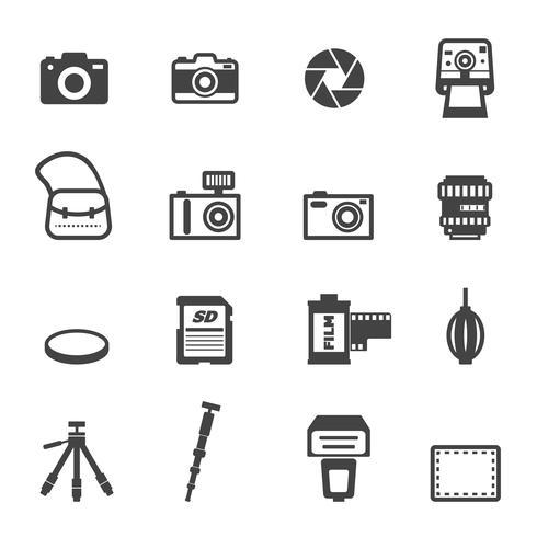 camera en apparatuur pictogrammen