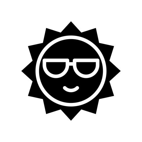 Sun vector, tropical related solid style icon