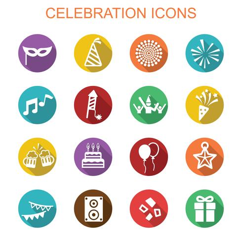 celebration long shadow icons