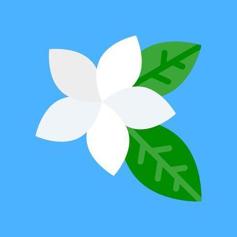 Vecteur de Plumeria, icône de style plat apparenté tropical