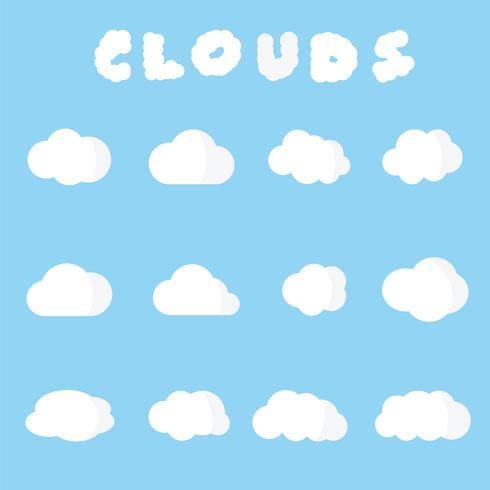 symbole vecteur de nuages