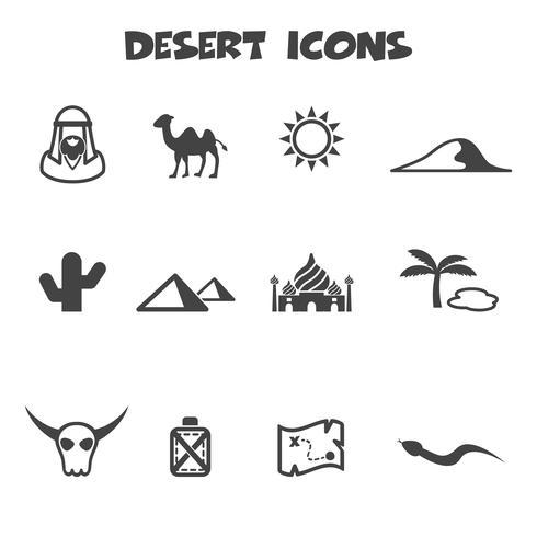simbolo di icone del deserto vettore