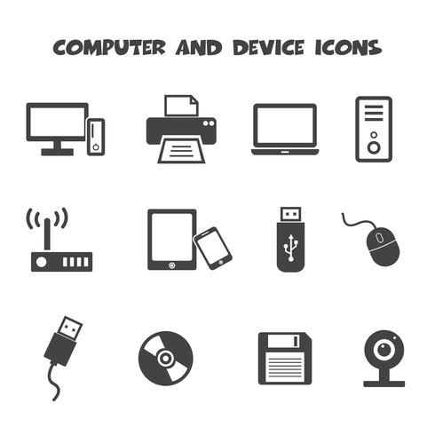 computer and device icons vector
