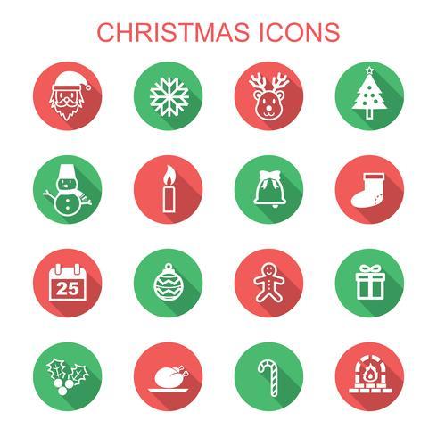 icônes de Noël grandissime vecteur