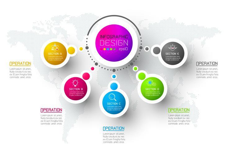 Plantilla abstracta de las opciones del paso del infographics del negocio vector
