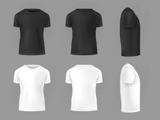 Gesetzte Schablone des Vektors von männlichen T-Shirts