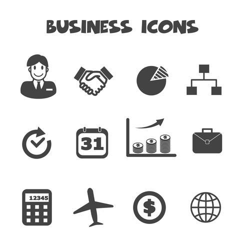 símbolo de ícones de negócios