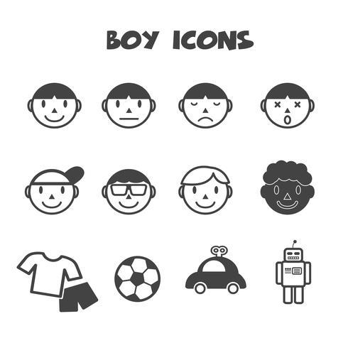símbolo de ícones de menino