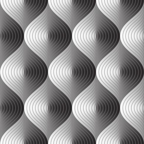 Teste padrão sem emenda abstrato de três dimensões na arte gráfica de vetor. vetor