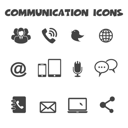communication icons symbol vector