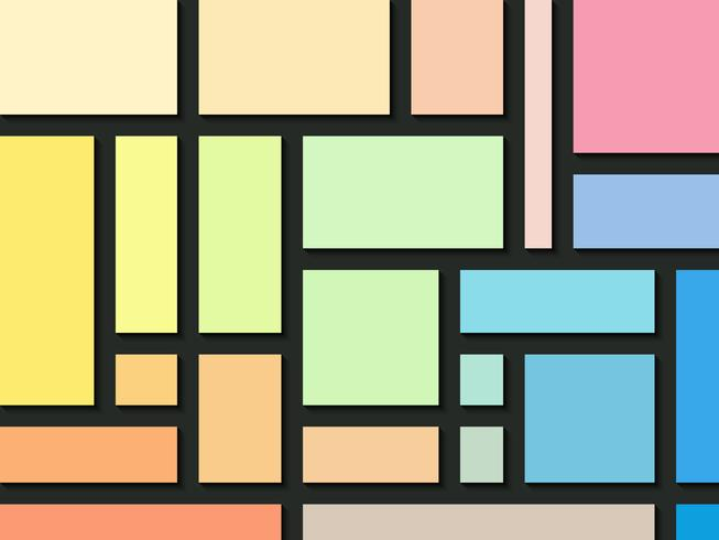 Rectangle colors abstract background.