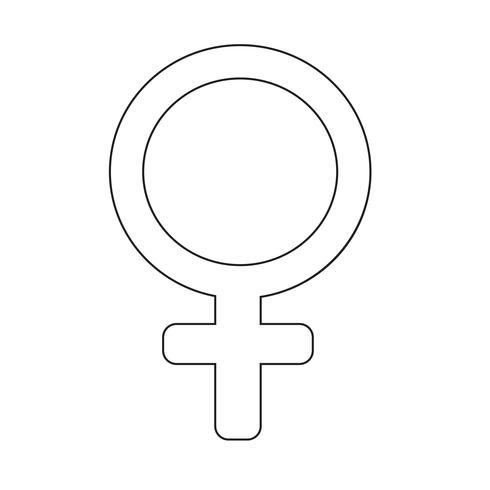 female sign icon illustration vector